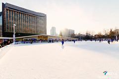 Seoul Plaza Ice Rink (Seoul Korea) Tags: city winter asian photo asia cityhall iceskating capital skating korea icerink korean photograph seoul kr southkorea    republicofkorea cityhallplaza seoulplaza canoneos6d sigma1224mmf4556dghsmii