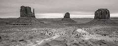 The Mittens, Monument Valley. (Highlandsnapper) Tags: travel arizona blackandwhite usa southwest nature photoshop canon landscape utah us ut scenery raw desert indian scenic az adobe fullframe monumentvalley fourcorners reservation 6d americansouthwest coloradoplateau 2015 navajonation themittens triballands