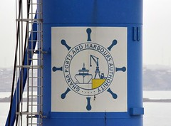 Ghana Ports and Harbours Authority logo (D70) Tags: africa wheel logo ship crane authority ghana ports harbours takoradi