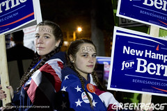 Bernie Support in New Hampshire (Greenpeace USA 2015) Tags: usa democracy durham newhampshire vote republican democrat keepitintheground