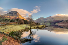 Lake District Dec 2015 117 - Wasdale Reflections (Mark Schofield @ JB Schofield) Tags: england mountains reflections nationalpark lakes lakedistrict cumbria scafellpike bog fell wastwater kirk wasdale haycock englishlakes greatgable lingmell yewbarrow thenationaltrust