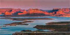Alstrom Point - Lake Powell - Arizona (~ Floydian ~ ) Tags: sunset arizona usa lake america canon point landscape photography evening utah butte dusk page powell lakepowell buttes alstrom padrebay gunsightbutte floydian canoneos1dsmarkiii alstrompoint henkmeijer