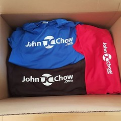 New John Chow dot Com Tshirts are here! Who wants one?