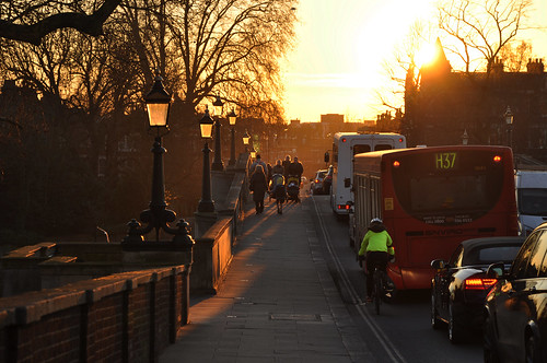 Sunset light on Richmond Bridge