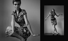 LadyJane (Barbara Duchalska) Tags: portrait white black fashion female hair blackwhite dance model 60s jean cut stripes poland polish retro pixie short twiggy seberg