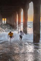 Manhattan Beach Pier -65   0023 (Katbor) Tags: manhattanbeach twoguys manhattanpier underpeir