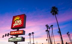 (Jimmy Meets World) Tags: california sunset tree del clouds losangeles dusk taco palmtree deltaco