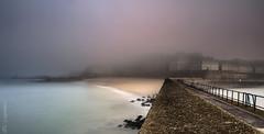 In the mist ... (Ludovic Lagadec) Tags: longexposure sea sky mer mist seascape beach landscape brittany marin bretagne breizh mole brouillard manche saintmalo stmalo matin corsaire mare illeetvilaine bretagnenord bw110 moledesnoires ludoviclagadec