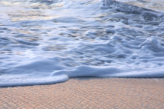 water foam (Juan Barra Photography) Tags: ocean sunset sea texture beach water sand foam coronel lagunillas waterfoam
