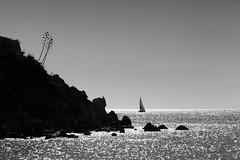 Contre jour (gdistudio.com) Tags: sea bw yacht greece