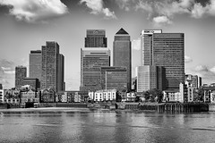 Canary Wharf *Explore* (sarah_presh) Tags: building london monochrome thames river mono canarywharf riverthames openhouse topaz 2015 nikond7100