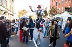 Unicycling Through A Festival