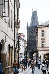 To St Charles Bridge, Karlv Most, Prague, Czech Republic (Kris McNeil) Tags: bridge st river republic czech prague charles most vltava karlv