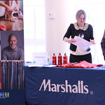 Marshalls employees at their booth during a career fair