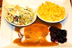 Turkey 'n Cranberry & Creamed Corn (Prayitno / Thank you for (10 millions +) views) Tags: california ca plaza costa dinner turkey coast healthy corn breast sauce south fine plate gravy cranberry relish creamed dining mesa coleslaw lawrys carvery konomark