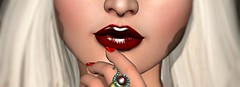 Red Seduction (DaniGraphix Resident) Tags: red sl secondlife lipstick lelutka hausofgraphelle