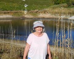 Ritsa and the Dam (RobW_) Tags: africa morning march estate wine walk south sunday jordan western cape stellenbosch ritsa 2016 06mar2016