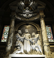 The Tenth Station - Jesus is Stripped (Lawrence OP) Tags: sculpture basilica marble stationsofthecross lackawanna jesuschrist viacrucis ourladyofvictory