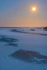 Moon rise (ludwigriml) Tags: pink blue winter sky orange moon lake ice reed nature water yellow evening fullmoon moonrise bluehour fineartphotography naturallightphotography lakehjlmaren ludwigrimlphotography ludwigrimlnaturallightphotography