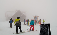 Low Visibility (DCZwick) Tags: winter cloud mist snow canada ski mountains fog rockies golden bc britishcolumbia alpine skiresort rockymountains snowboarder skier eagleseye canadianrockies kickinghorse khmr kickinghorsemountainresort 01standardprime pentaxq7