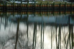 Peconic River (DOTCALM9) Tags: trees reflection march pier downtown nikond70s longisland northfork riverhead 2016 peconicriver suffolkcounty