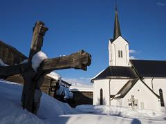 KIRCHE VON ULRICHEN (bolliger51) Tags: winter schweiz religion kirche kreuz che wallis katholisch kirchturm glaube oberwallis christentum goms konfession obergoms ulrichen holzkreuz kantonwallis schweizsuissesvizzeraswitzerland