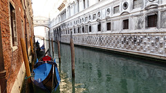 Bridge of Sighs (jjamv) Tags: city bridge venice italy panorama building water skyline architecture river veneza landscape boats puente pier boat canal italian alley agua italia waterfront outdoor unescoworldheritagesite unesco ponte panasonic riverbed gondola bridgeofsighs palazzo venise venecia venezia venedig unescoworldheritage palaces pontedeisospiri grandcanal rialto waterway gondolas palazzoducale dogespalace vessels worldheritage watercourse palazzi barges gondole veneto 威尼斯 canalgrande 2016 italianlifestyle travelphotography zecca seufzerbrücke dogana vaporetti 베니스 launches ונציה puentedelossuspiros riodipalazzo canalazzo jjamv julesvtravel panasonicdmctz70 dmctz70