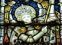 Retford - St Swithun's - Kempe Glass (Glass Angel) Tags: tower dragon stainedglass stmichael nottinghamshire retford kempe stswithun