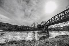 A Bridge too Far ? (Jon_Wales) Tags: bridge history stone wales train river spring iron steel cymru railway viaduct monmouth welsh wye