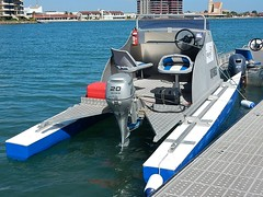 Rescue Boat (mikecogh) Tags: rescue boat seats catamaran pontoons umpire westlakes outboardmotor