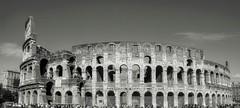Colloseum, Rome (James Grandfield) Tags: blackandwhite italy rome building tourism architecture ruins colloseum ancientrome ancientbuildings
