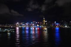 Hong Kong (jernejb) Tags: city skyline night skyscraper hongkong lightshow tst tsimshatsui hongkongisland oceanterminal d5200