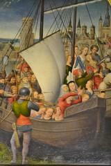 Detail from the Shrine of St Ursula by Hans Memling c1489 (greentool2002) Tags: st hospital john shrine hans sint bruges ursula memling c1489 janshopitaal