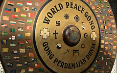 World peace gong (Scossadream) Tags: door light woman india colour bus brick stone kids children temple kid women squirrel gallery desert fort shepherd balcony delhi indian faith swastika flock plate flamingos palace camel mausoleum dome spacemonkey worker superstition bikaner karnimata jaisalmer rajasthan jodhpur humayunstomb jamamasjid smp mehrangarh bluecity mandawa badabagh divinities svastica junagarh thardesert scossa jaswantthada indiangate d7100 worldpeacegong lucaguizzardi spacemonkeypictures nikond7100