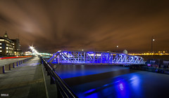 The Blue Bridge (Mark Holt Photography - 4 Million Views (Thanks)) Tags: longexposure water liverpool reflections bridges cloudscapes clt longexposurephotography cruiselinerterminal cruiseliverpool