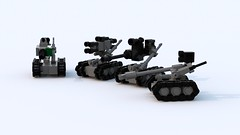 Foster Miller TALON (TheRookieBuilder) Tags: lego render military talon bots tracked ugv legodigitaldesigner bluerender