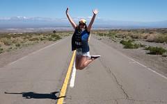 Up Girl (Joo Ebone) Tags: argentina girl up ruta jumping chica camino mulher iglesia estrada andes salto range pulo montanha montanhas caminho cordillera pular picos nevado pula 149 arriba brasileira rota cordilheira rodovia nevados saltar