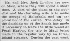 Jack London on Maui (UH Manoa Library) Tags: news history vintage hawaii newspaper ad books historic advertisement historical microfilm dns digitization digitisation chroniclingamerica ndnp