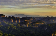Sunset over Danxa Mount (Massetti Fabrizio) Tags: china sunset mountain mount cina shaoguan guandong danxa nikond700