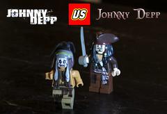 Johnny Depp (Phenix Dark) Tags: celebrity lego vs minifig