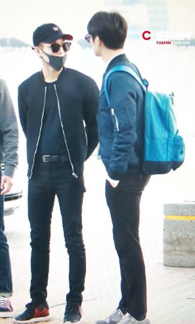 160401 SHINee (Sin Jonghyun) @ Aeropuerto de Incheon {Rumbo a Japón} 26148333782_72128472f1_z