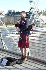 Saving for his engagement ring. (grimp53) Tags: kilt scot piper bagpipe