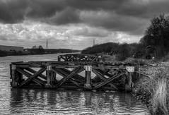 Old Quay (PaulEBennett) Tags: blackandwhite mono canal quay mooring hdr manchestershipcanal