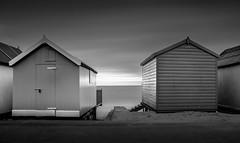 Hut - Hut (TS446Photo) Tags: seascape beach weather stairs bay seaside sand waves noiretblanc shore