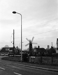 Burgh Le Marsh. (col-h) Tags: industry church windmill 35mm power wind lincolnshire windpower burghlemarsh