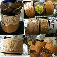 Handcrafted #giftideas #mothersday #mothersdaygift #leather #leathercraft #leatherwork  #bracelets #wristband (standingbears) Tags: leather bracelets wristband mothersday leatherwork mothersdaygift giftideas leathercraft
