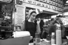 Reading Terminal Market, 2016 (Alan Barr) Tags: street people blackandwhite bw philadelphia monochrome mono blackwhite fuji candid streetphotography amish sp fujifilm streetphoto marketstreet x70 readingterminalmarket 2016 readingmarket