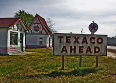 Texaco Ahead (f4fwildcat...Tom Andrews Photography) Tags: 1930s gasstation kansas roadside texaco weir oldtime oilcan f4fwildcat southeastkansas tomandrewsphotography