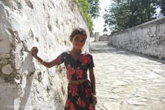 Tribal Girl - 2 (Tarang Jagannath) Tags: portrait flower color cute girl village tribal cloth rajsthan