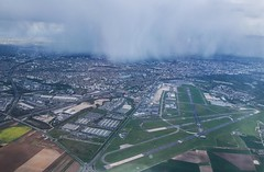 Paris Thunder Storm - Le Bourget LBG (Andy.Gocher) Tags: storm paris france clouds flying airport europe aerial le runway windowseat bourget aeroplanewindow sigma18250 canon100d aeroplaneseat cloudsstormssunsetssunrises andygocher